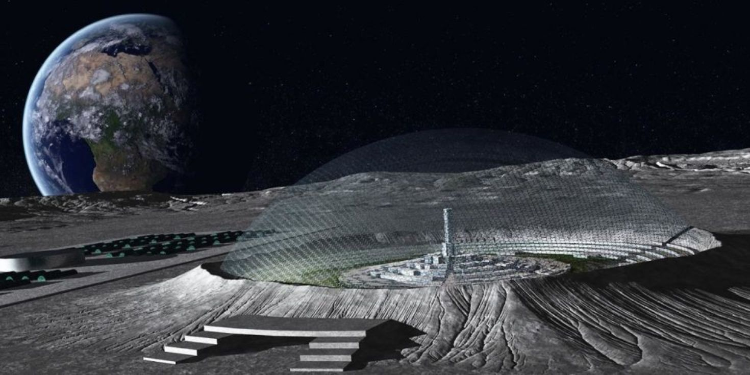 Lunar base moon village by 2020