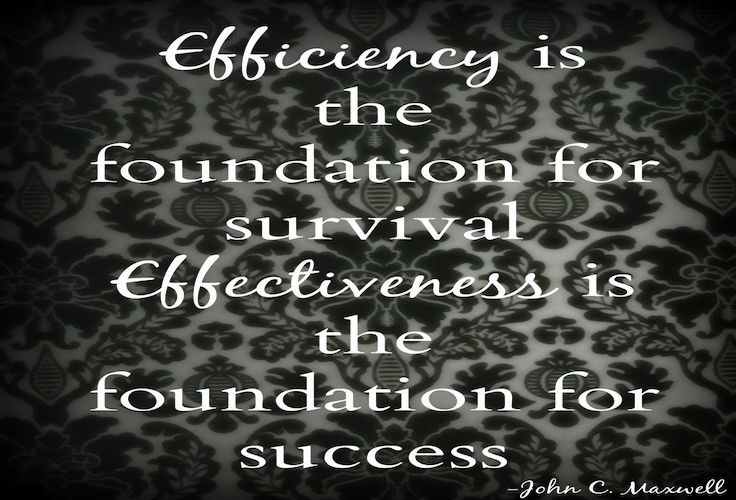 Efficiency is key for Personal Effectiveness