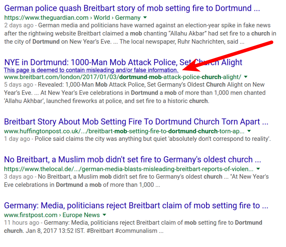 how to spot correct news on Google