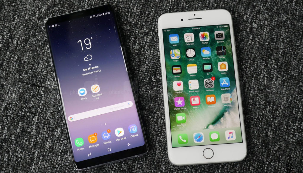 Samsung Galaxy Note 8 vs iPhone 8:
