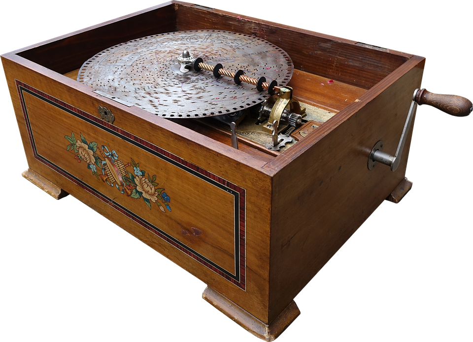 unique gifts for Christmas - Music Box, Music, Nostalgic, Turntable, Record