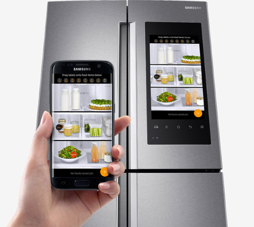 Samsung Family Hub Smart Fridge - cooking kitchen gadgets gift ideas