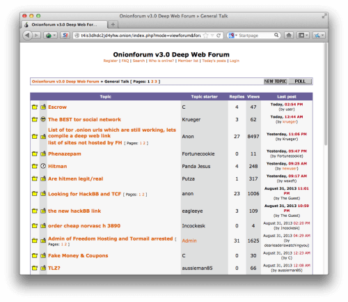 deep web screenshot