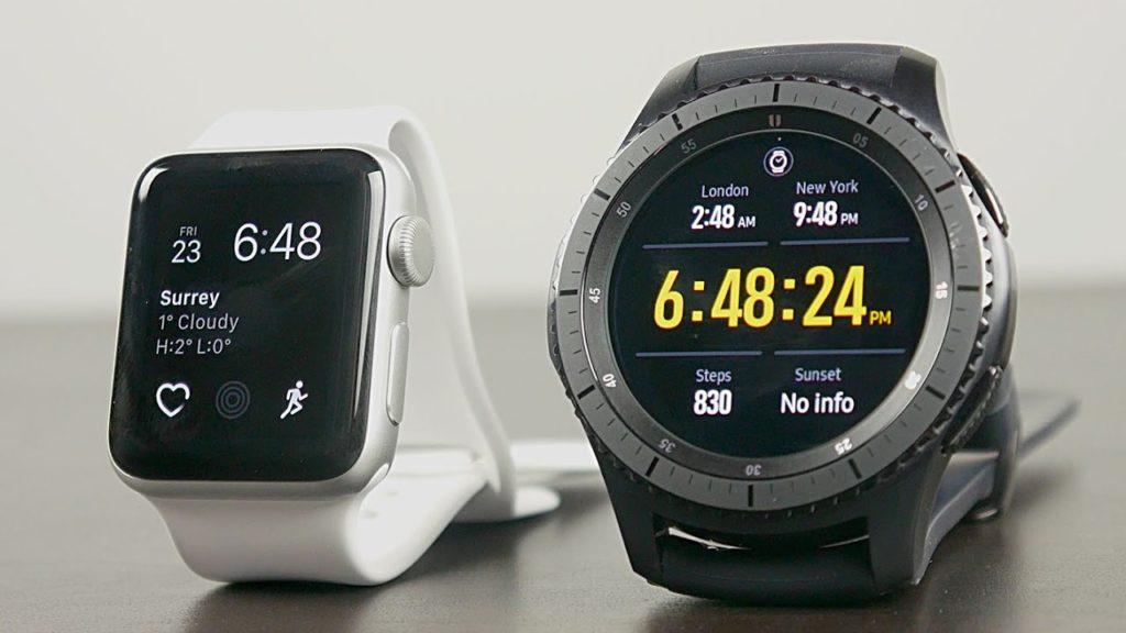 Compare Apple Watch Series 3 vs Samsung Gear S3 frontier