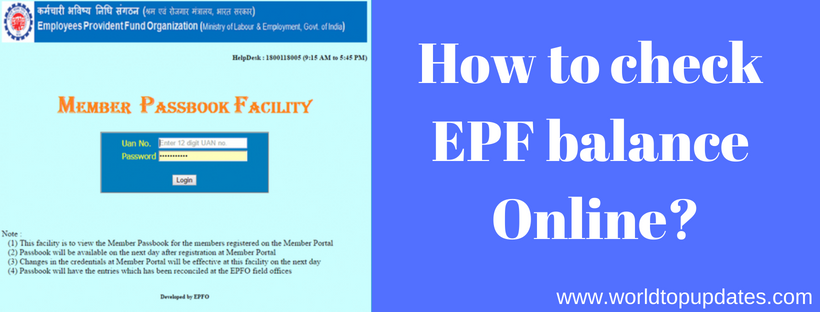 check EPF balance