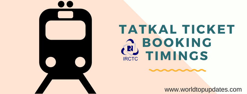 tatkal ticket booking timings IRCTC