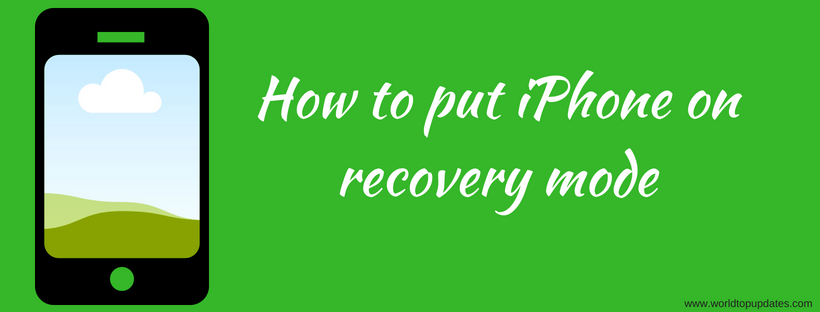 How to put iPhone in recovery mode