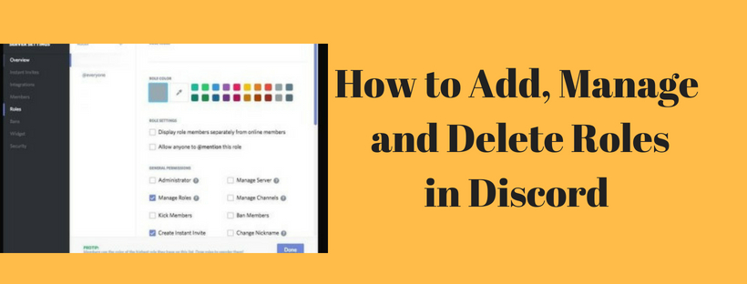 Add, Manage and Delete Roles in Discord