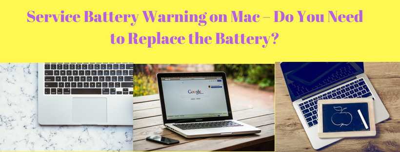 service battery warning on mac