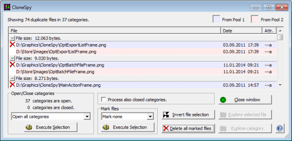 Duplicate file finders for windows