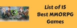 15 Best MMORPG Games
