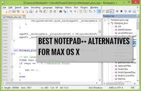 Alternatives to Notepad++